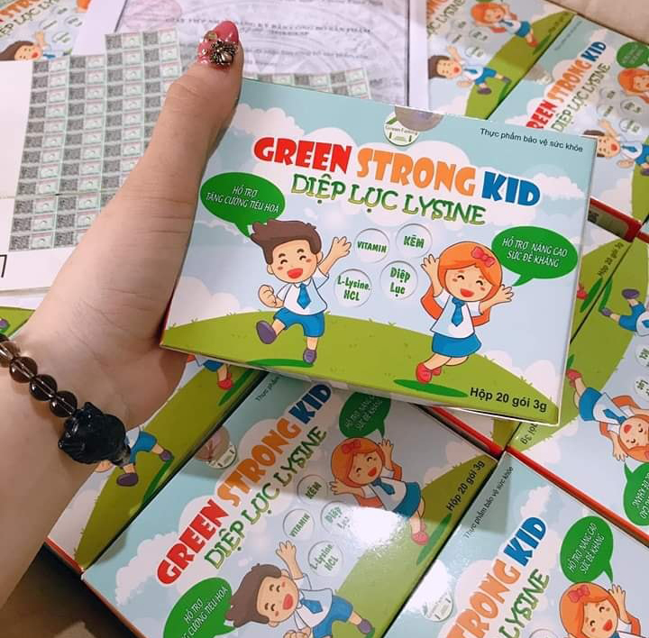Diệp lục Lysine - Green Strong Kid